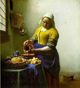 Vermeer, The Milkmaid, 1658 – 60